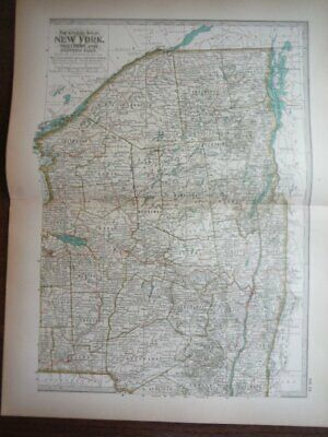 The Century Atlas,  Map of New York, Northern and Eastern Part (1897)