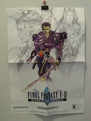 "Final Fantasy Game Poster 33x47/"" Video Print Gamer Room Geek Wall Art Gift SG007"