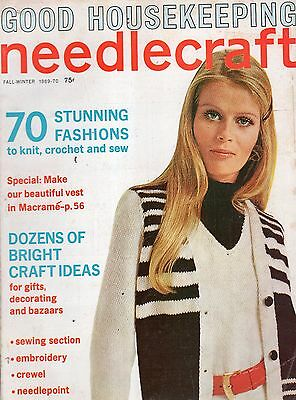 Fall/Winter 1969-70 Good Housekeeping Needlecraft Magazine-70 Stunning Fashions