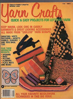 Spring 1980 Yarn Crafts Magazine-Quick & Easy Projects For Leftover Yarn-Shawls