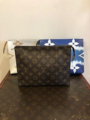 Auth LOUIS VUITTON MONOGRAM TOILETRY POUCH 26 Made In FRANCE 🇫🇷 SOLD OUT