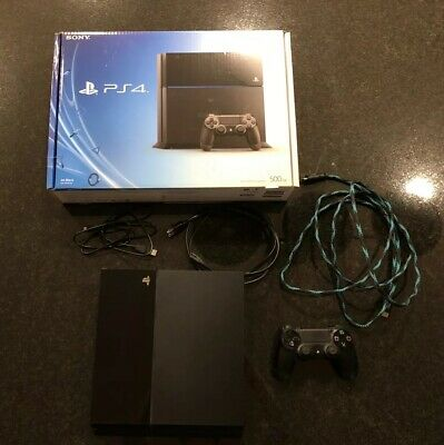 Sony PlayStation 4 Jet Black Upgraded 250GB SSD for faster load times!