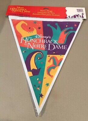 Vintage Disney's The Hunchback of Notre Dame Party Flags - 12 Feet - NEW!