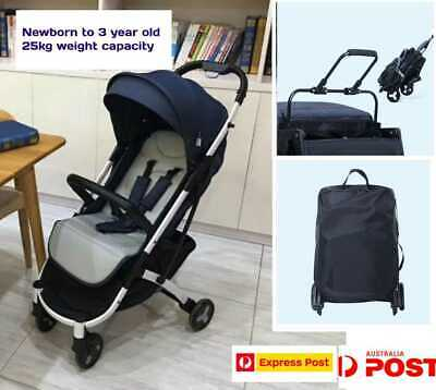 Compact Lightweight Baby Pram Stroller Real One-hand Fold Carry on Airplane