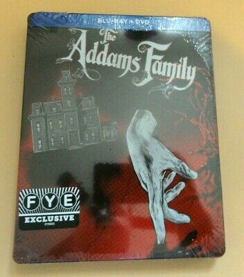 NEW - The Addams Family F.Y.E. FYE Exclusive Blu-ray Steelbook SEALED