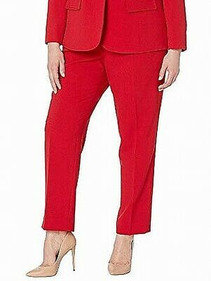 Tahari By ASL Womens Dress Pants Red Size 16W Plus Stretch Solid $89- 093