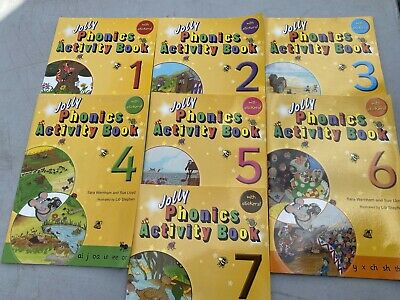 Brand New Jolly Phonics Acitivty Books Complete Set 1-7