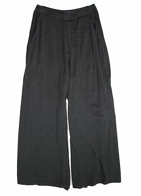 Eileen Fisher Womens Pants Heather Black Size Small S Wide Leg Stretch $148- 032