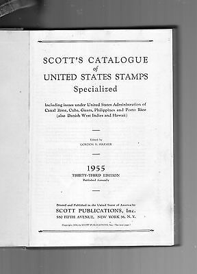 1955 Scott's Catalogue Of United States Stamps Specialized-33Rd Edition-Hc