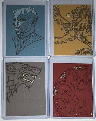 Rittenhouse Game of Thrones Season 8 Case Loader Topper Set CT1 CT2 CT3 CT4