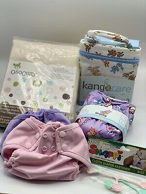 Rumparooz Newborn Cloth Diaper LOT With Extras