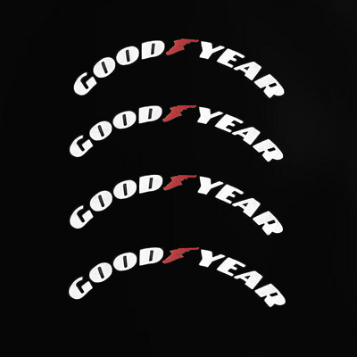 Permanent Tire Lettering Decals Stickers Goodyear 15''-22'' Wheels 4 Sets 1.38''