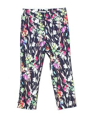 Ilusion Womens Pants Black Size 4 Cropped Printed Pull-On Stretch $88 895