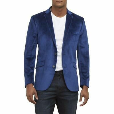 Kenneth Cole Reaction Mens Blazer Blue Size 38 Two Button Notch-Collar $185 551
