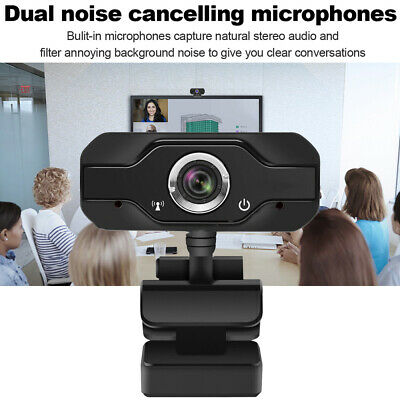 USB 2 Mega pixel 1080P HD Webcam Web Cam Camera & Microphone Mic For Laptop PC