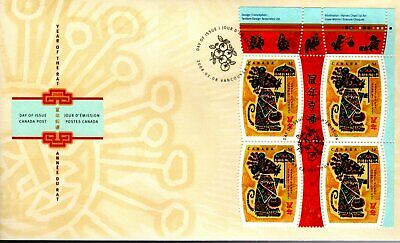 2008 #2257 Year Of The Rat UR PL BLK FDC with CP cachet