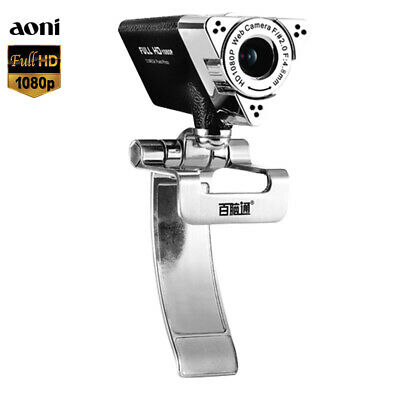 Aoni Full HD Webcam Camera 1080P USB Build-in Microphone For TV PC Laptop Skype