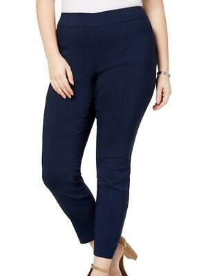 Style & Co. Womens Pants Blue Size 18W Plus Pull On Skinny Leg Stretch $32 228