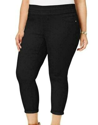 Style & Co. Womens Pants Black Size 16W Plus Comfort Waist Tummy Control $56 024