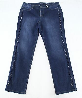 Charter Club Womens Jeans Blue Size 18W Plus Straight Tummy-Slim Stretch $79 089
