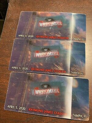 (3) WWE Wrestlemania 36 3D Commemorative Souvenir Canceled Ticket RARE HISTORY