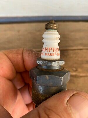 Vintage C-5 Champion Spark Plug In Tin