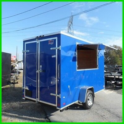 covered wagon v nose 6x12 enclosed cargo concession trailer 3x6 serving window