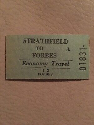 NSW Railway Ticket - Forbes