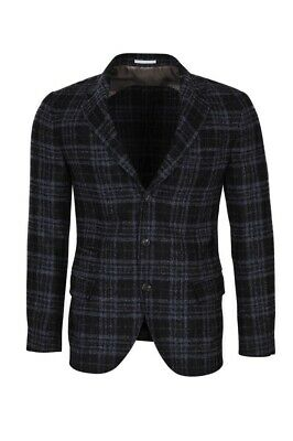 Brunello Cucinelli Blazer Men's 50 SALE !! Black Slim Checkered Alpaca
