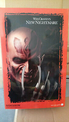 """Freddy Krueger Wes Cravens New Nightmare Sideshow  Exclusive Sideshow 12""""  LE500"""