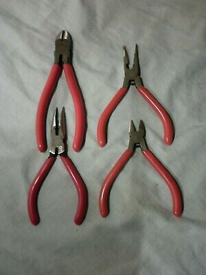 Vintage Stanley Pliers Qty 2 Plus Two Similar Nr/As New 84-131 84-094 Id Marks