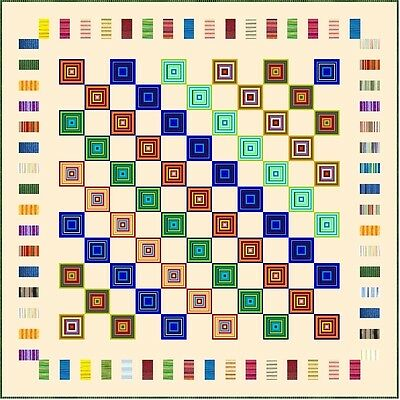 """ELECTRIC BOOGALOO - 97"""" - Quilt-Addicts Pre-cut Patchwork Quilt Kit King"""