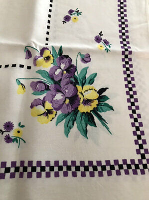 Vintage Pansy Cloth Stunning!