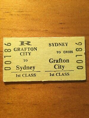NSW Railway Ticket - Grafton City First Class