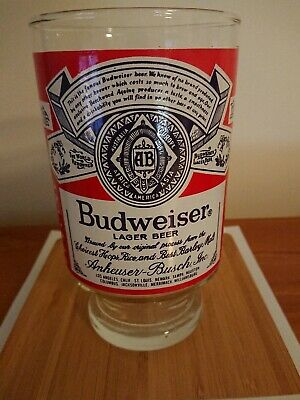 Collectable Budweiser Lager Beer oversized Large Beer Glass