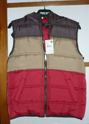 Nwt Boys Size 8 Warm Padded Puff Vest Zip With Hoody