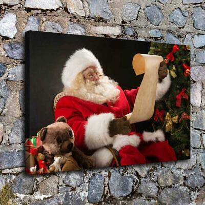 Santa Claus HD Canvas prints Painting Home decor Picture room Wall art Poster