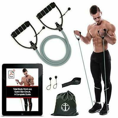 Home Yoga Resistance Bands Tube Workout Exercise Elastic Band Fitness Equipment