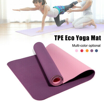 Yoga Mat 6mm Non-Slip Exercise Yoga Mat with Carrying Strap