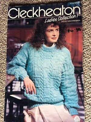 Vintage Cleckheaton Knitting Pattern Book 366 Ladies Collection 1 in 8 Ply