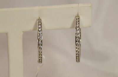 Simple 18K White Gold 1.50 Carat TW Diamond Earrings