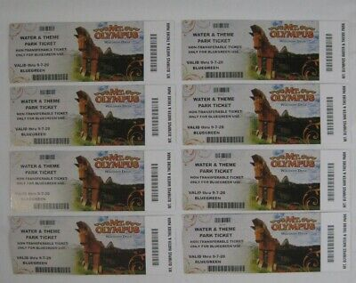 8 New Mt. Olympus Wisconsin Dells Water & Theme Park Tickets, Valid thru 9.7.20