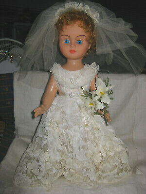 "15""  POLYQUALY VINYL BRIDE DOLL-MADE IN HONG KONG -1960's"