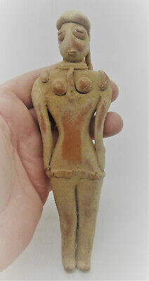 Rare Ancient Neolithic Near Eastern Terracotta Worshipper Statuette