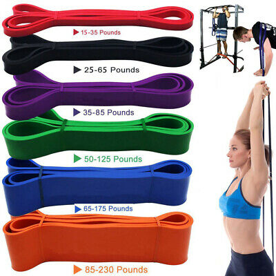 Latex Resistance Bands Loop Exercise Sport Fitness Stretching Tube Home Yoga Gym