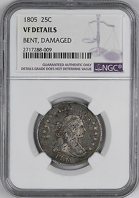1805 Draped Bust Early Quarter 25C - NGC VF Details -