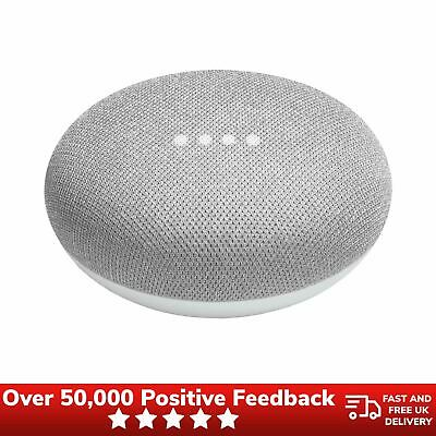 Google Home Mini Smart Speaker Assistant Wireless Bluetooth Voice Control Chalk