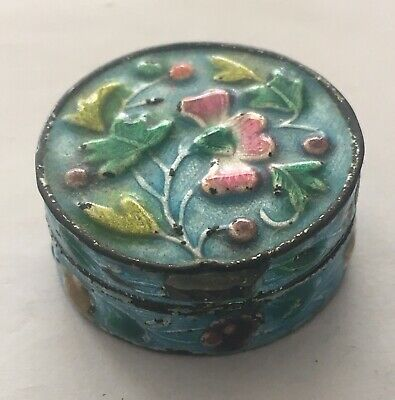 Antique Chinese Export Miniature Enameled Trinket Box