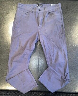 Kenneth Cole Reaction Mens 32 x 30 Gray Slim Fit 5 Pocket Pants
