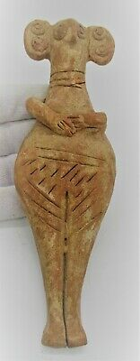 Circa 1180-700Bce Ancient Syro-Hittite Terracotta Fertility Figure Worshipper